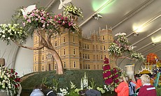 Highclere Castle recreated in flowers, potatoes...