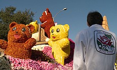 Gummy bear rose float. Why is the Rose Parade o...