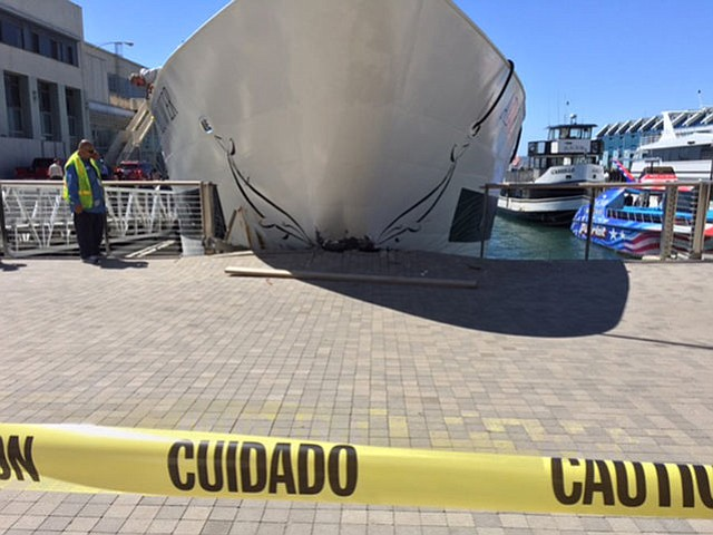 Investigation Underway After Ship Crashes Into San Diego Pier KPBS - Where do cruise ships dock in san diego