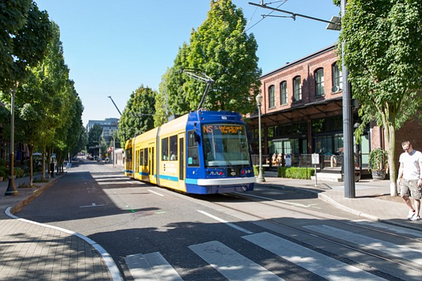 In Portland, Oregon's Pearl District, the new and old exist side by side in a...