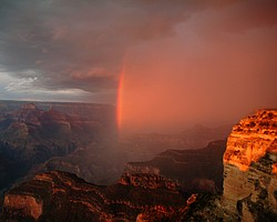 Rainbow from South Rim, Grand Canyon National Park.