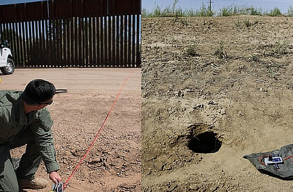 A cross-border tunnel discovered by an El Centro Sector B...