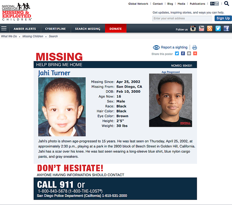 Stepfather Arrested In 2002 Cold Case Of Missing Toddler | KPBS