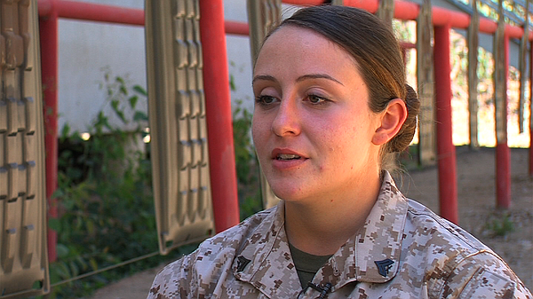 Marine Cpl. Angelique Preston talks about her goal of joi...