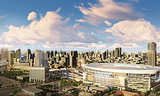 A concept design of a proposed Chargers stadium...