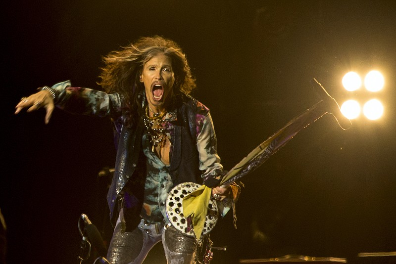 Aerosmith singer Steven Tyler performs in Moscow, Russia, Sept. 5, 2015. The ...