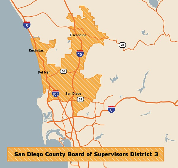 San Diego County Board of Supervisors District 3 includes...