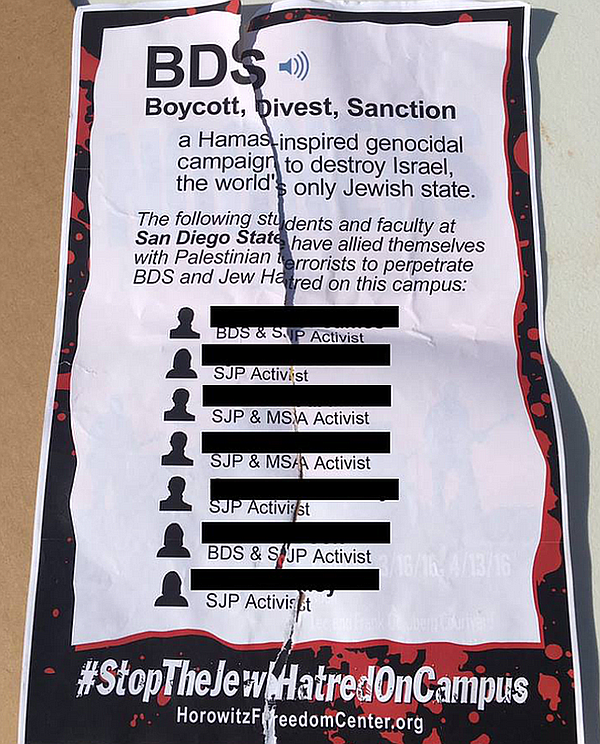 One of the fliers students say began circulating in April...