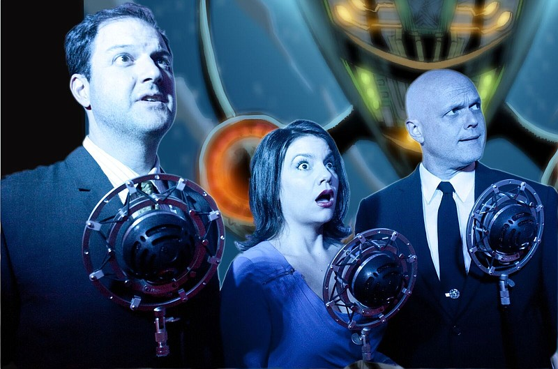 This photo features actors from The Intergalactic Nemesis Live-Action Graphic...