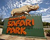 The San Diego Zoo Safari Park's sign appears in...