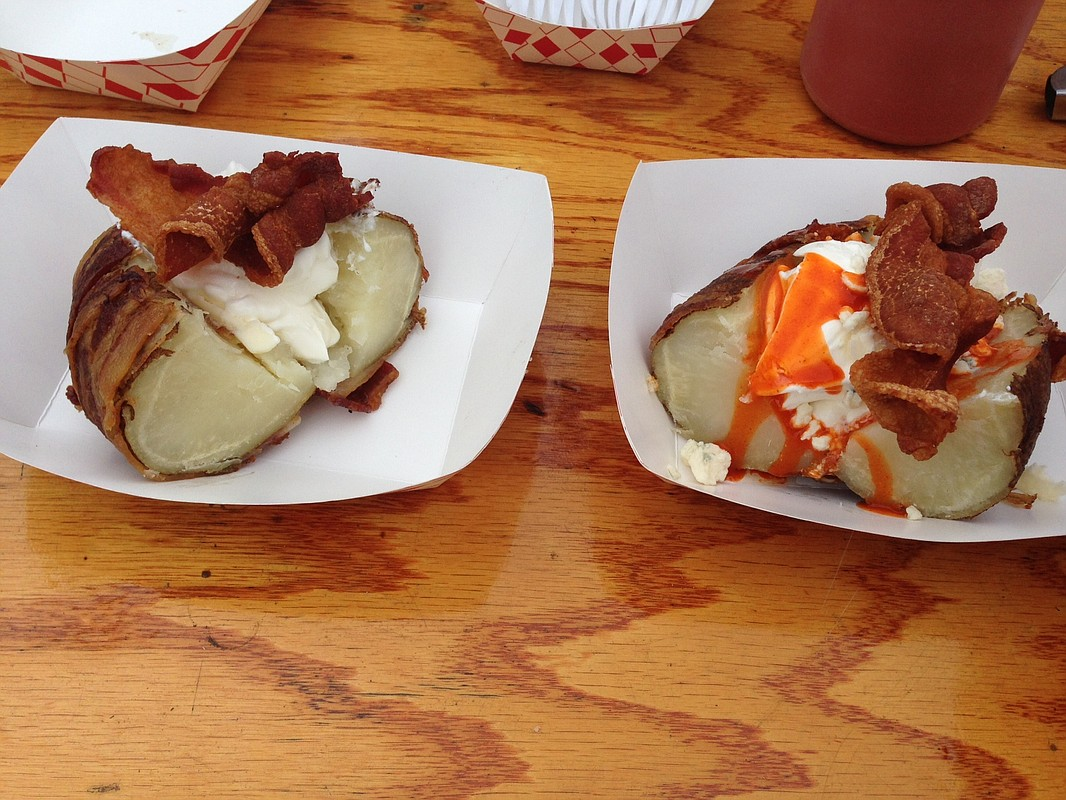 giant bacon wrapped baked potatoes at the san diego county fair at the del mar - Del Mar Fair Halloween