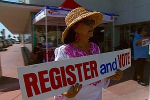San Diego Latinos Urged To Register On National Voter Reg...