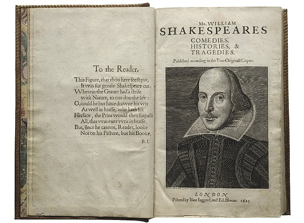 The First Folio, the book that collected all of Shakespea...