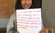 "Livia, 11, said that if she had a vote she would want to vote for ""somebody w..."