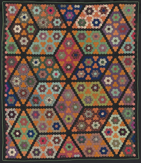 A photo of a quilt that will be on display during the San...