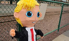 A piñata at Donald Trump's rally in San Diego, ...