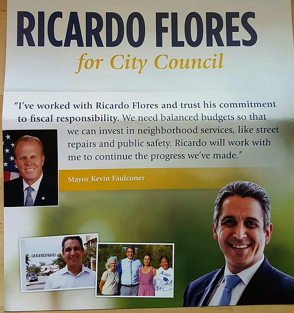 A mailer paid for by the San Diego Regional Chamber of Co...