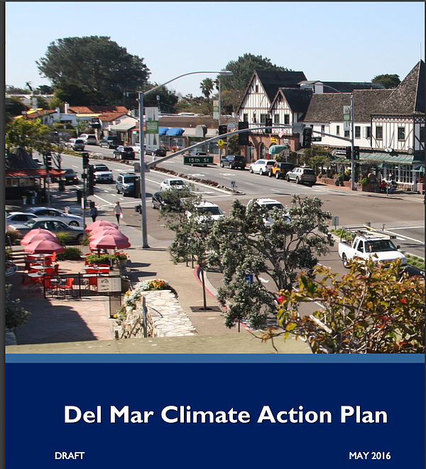 The cover of Del Mar's draft Climate Action Plan, June 2, 2016.
