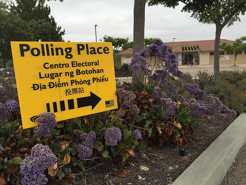 A polling place at Lopez Ridge Park in Mira Mesa, June 7, 2016.
