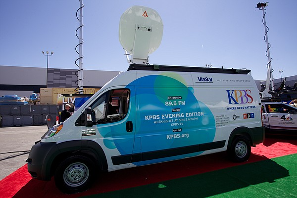 KPBS news truck will provides the station with the capability for on-the-scen...
