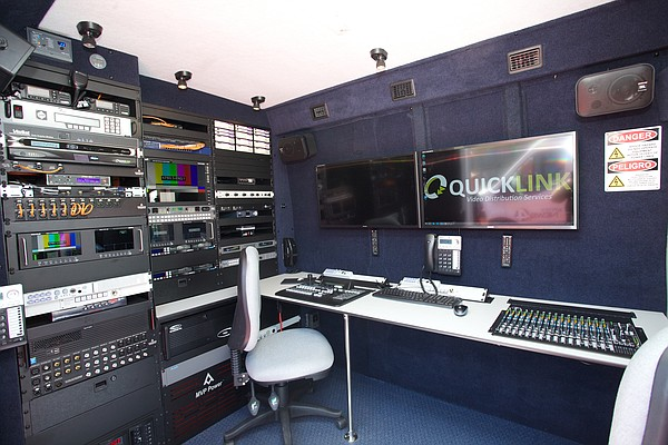 KPBS news truck features state-of-the-art broadcast and editing equipment.  T...