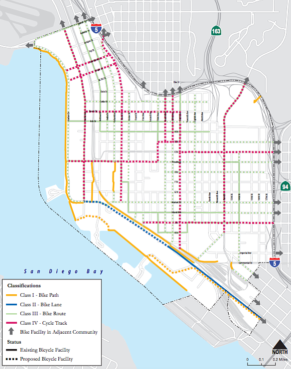 Proposed new bike lanes under the Downtown Mobility Plan ...