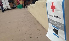 An American Red Cross disaster relief site, Jun...