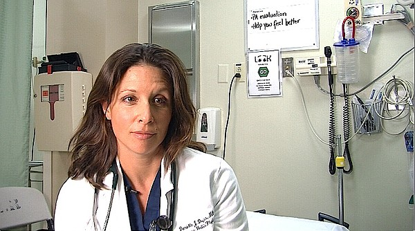 Dr. Danielle Douglas is shown in Sharp Grossmont Hospital...