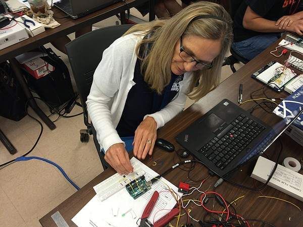 Point Loma High School engineering teacher Kathy Shulze w...