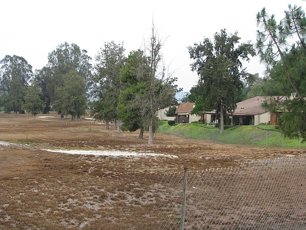 The Escondido Country Club golf course, which turned brow...