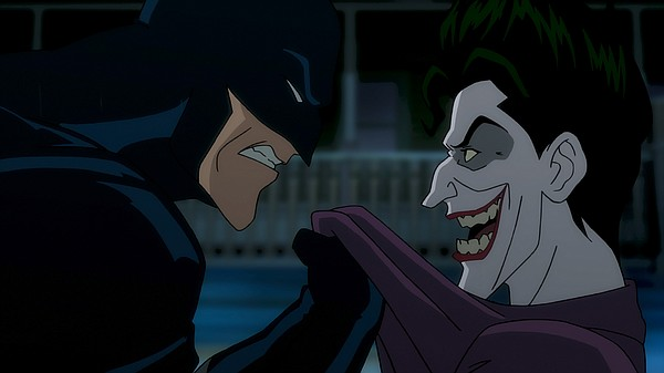 A photo of Batman and the Joker from the film
