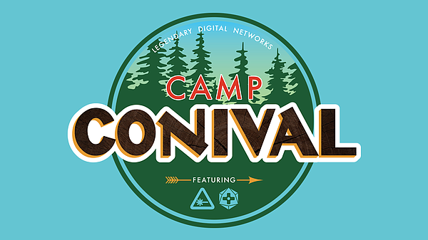 The official logo for Nerdist's Camp Conival, happening a...