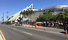 A view of the San Diego Convention Center, July...