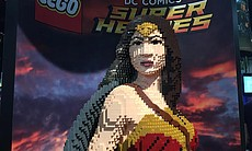 Wonder Woman made of Legos, July 21, 2016.