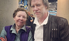 Leia and Han Solo at Comic-Con International, J...