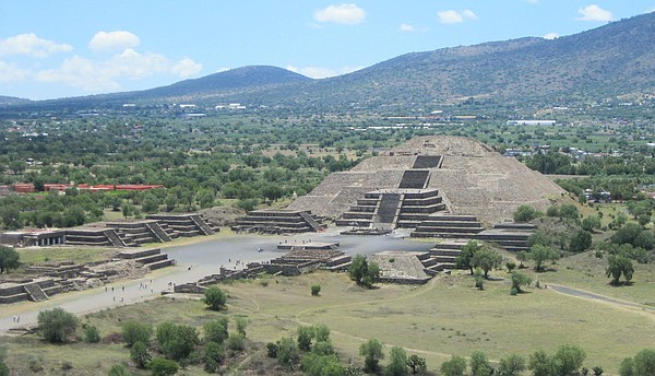 This undated photo shows Teotihuacan's massive