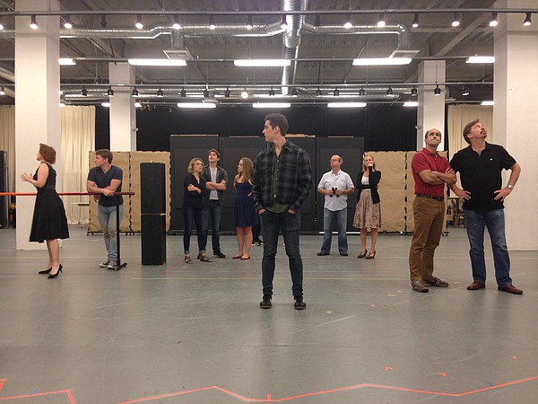 A scene from rehearsals for The Old Globe's