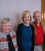 KPBS Producers Club members Bob Kilian and Kathleen Slayton with Judy Woodruff