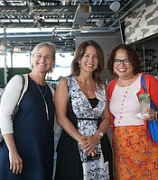 KPBS Director of Diversity, Engagement & Grants Monica Medina and Grant Writer Linda Ball with President of Las Patronas Lisa Betyar
