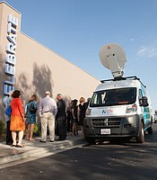KPBS Live Truck funders tour the new live truck