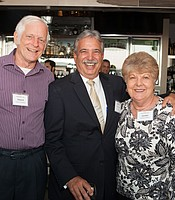 KPBS Producers Club members Edward and Carolyn Roeters with KPBS General Manager Tom Karlo