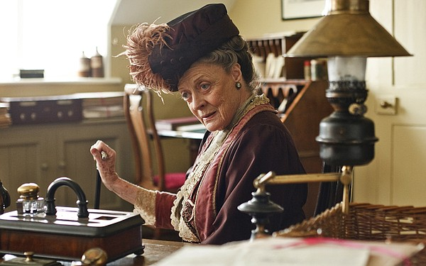 Dame Maggie Smith as Violet, Dowager Countess of Grantham from DOWNTON ABBEY.