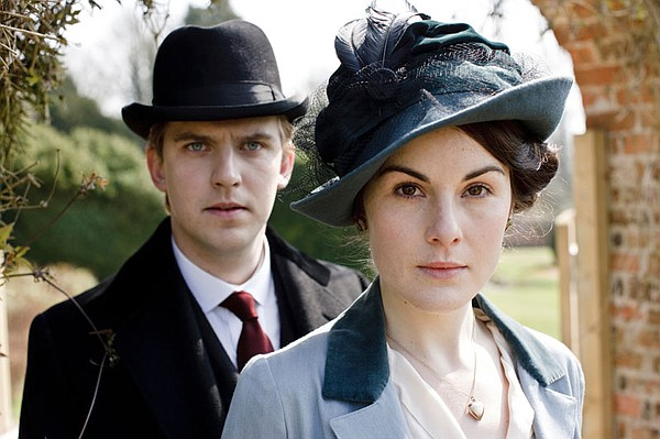 Dan Stevens as Matthew Crawley with Michelle Dockery as Lady Mary Crawley.