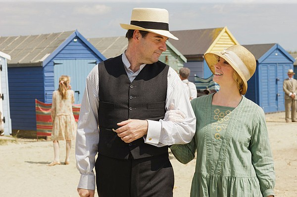 Brendan Coyle as Mr. Bates and Joanne Froggatt as Anna.