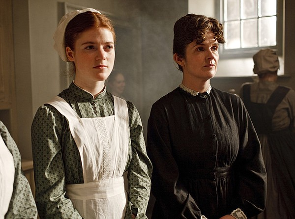 Rose Leslie as Gwen and Siobhan Finneran as O'Brien.