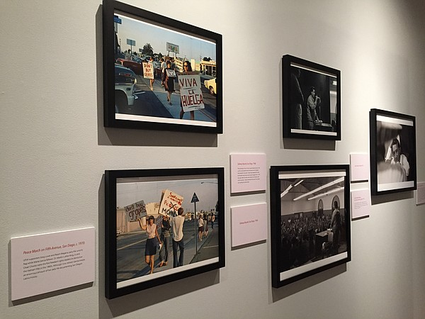 A photo exhibit at the University of San Diego commemorat...