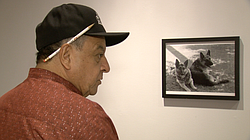 Carlos LeGerrette discusses his photographs at a new University of San Diego ...