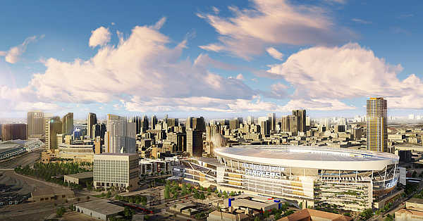 The proposed downtown Chargers stadium is shown in this u...