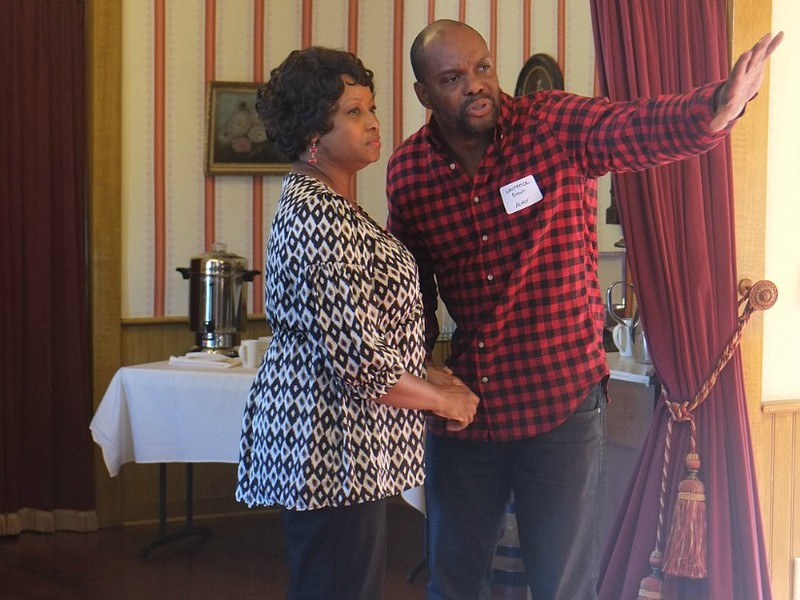 Actors Yolanda Franklin and Laurence Brown give a preview of