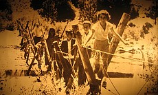 """Campers cross the """"Monkey Bridge"""" at Cuyamaca Outdoor School in this undated ..."""